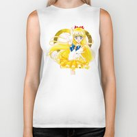 sailor venus Biker Tanks featuring Eternal Sailor Venus by Yue Graphic Design