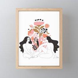 i am here for you Framed Mini Art Print