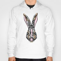 rabbit Hoodies featuring Rabbit by SilviaGancheva