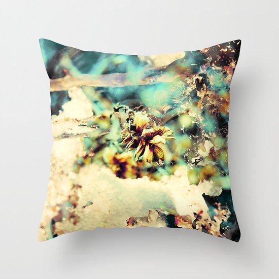 flowers & Ice. Throw Pillow