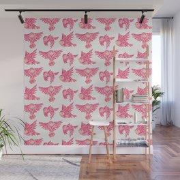 Owls in Flight – Pink Palette Wall Mural