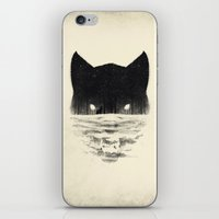 sale iPhone & iPod Skins featuring Wolfy by Dan Burgess