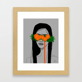Blinded by Marigolds Framed Art Print