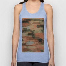 green brown orange and black painting abstract background Unisex Tank Top