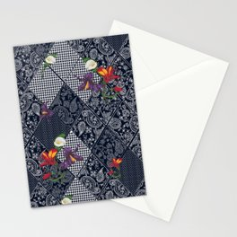 Seamless background lace, paisley and pied-de-poule, houndstooth design Stationery Cards