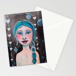 Midnight whimsy Stationery Cards