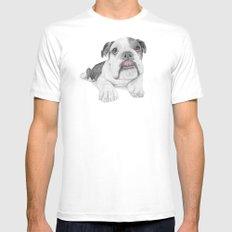 A Bulldog Puppy Mens Fitted Tee MEDIUM White