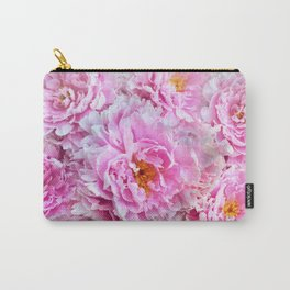 Shabby Chic Pink Peonies Carry-All Pouch