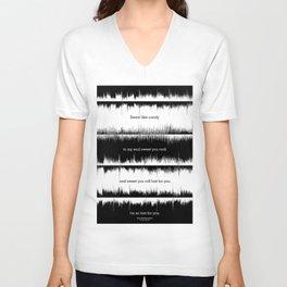 Lab No. 4 - Dave Mathews Band Crash into me Songs Waveform Lyrics Quotes Poster Unisex V-Neck