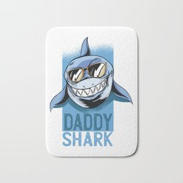 Daddy Shark Shirt Doo Doo Doo Funny Daddy Valentines Day T-Shirt Bath Mat