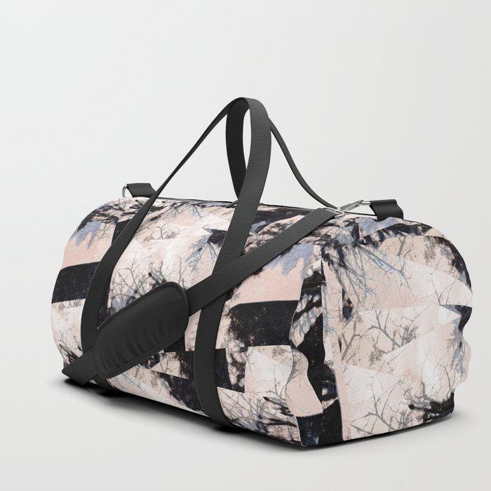 Beige et bois Duffle Bag