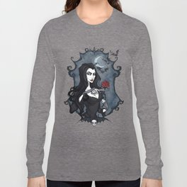 Morticia Addams portrait Long Sleeve T-shirt