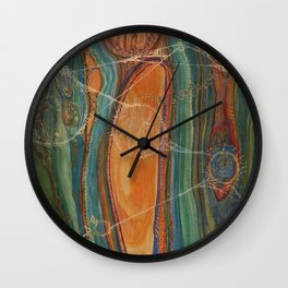 Lively Synapses (Amplified Current) Wall Clock