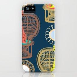 Rattan Cheetah Chairs + Mirrors iPhone Case