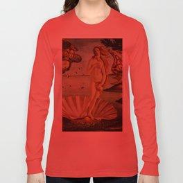 The Birth of Venus by Sandro Botticelli Long Sleeve T-shirt