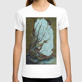 Cotton Boll on Wood T-shirt