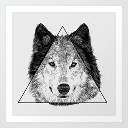 Trinity Wolf Art Print