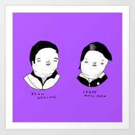 Drive characters Art Print