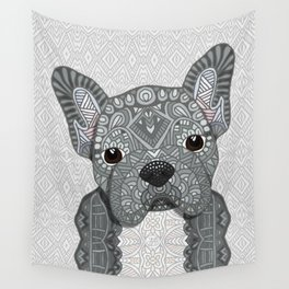 Gray Frenchie 001 Wall Tapestry
