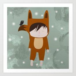Foxie Boy Art Print