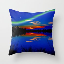 North light over a lake Throw Pillow