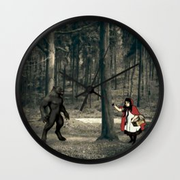 Scary Wolf Wall Clock