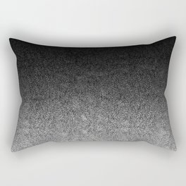 Silver & Black Glitter Gradient Rectangular Pillow