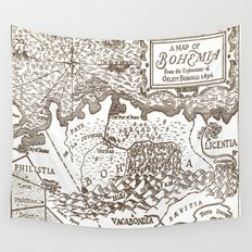 Map of Bohemia Wall Tapestry