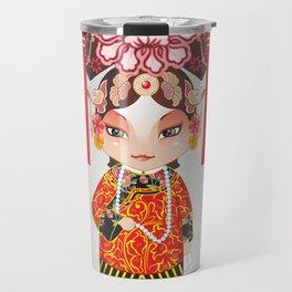 Beijing Opera Character TieJing Princess Travel Mug