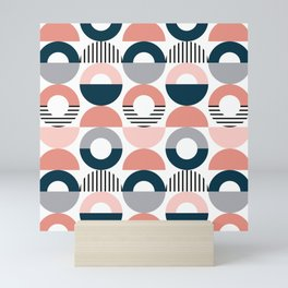 Retro style pattern 5 Mini Art Print