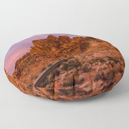 Sunrise Glow - Valley of Fire State Park Floor Pillow