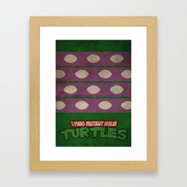 LYNAS Mutant Ninja Turtles: Donatello Framed Art Print