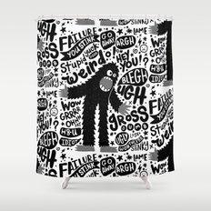 internal monologue Shower Curtain