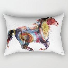 Horse (Running Happiness) Rectangular Pillow