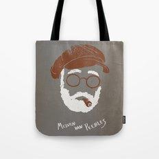 Melvin Van Peebles Minimalist Portrait Tote Bag