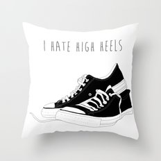 I HATE HIGH HEELS _ SHOES CONVERSE  Throw Pillow
