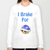 mario kart Long Sleeve T-shirts featuring I Brake For Blue Shells (Mario Kart)  by Don Enrique