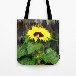 Dwarf Sunflower In A Pot - Painterly Tote Bag