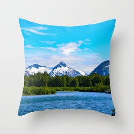 Portage Valley Summer - I Throw Pillow