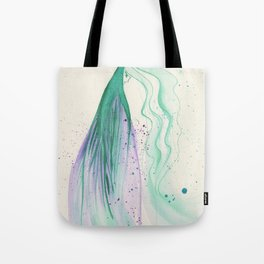 Teal Lady Tote Bag