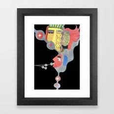 Dark minds Framed Art Print