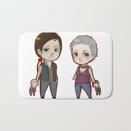 Carol/Daryl Chibis The Walking Dead Bath Mat