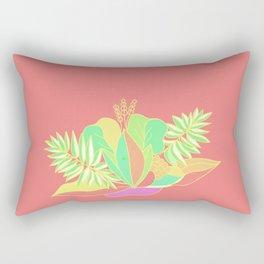 Hot tropical flowers and palms Rectangular Pillow