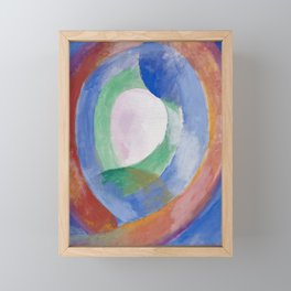 Formes circulaires; lune no. 1, 1913 by Robert Delaunay Framed Mini Art Print