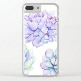Pastel Echeveria #society6 #buyart Clear iPhone Case
