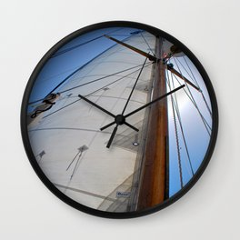 Raising the Jib III Wall Clock