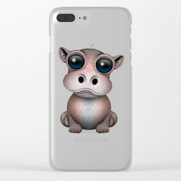 Cute Baby Hippo Clear iPhone Case