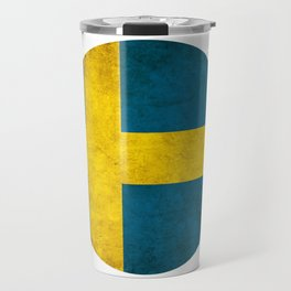 Sweden flag, circle Travel Mug