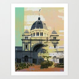 Exhibition Building Art Print