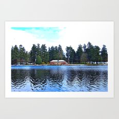 Wapato Lake Winter Art Print